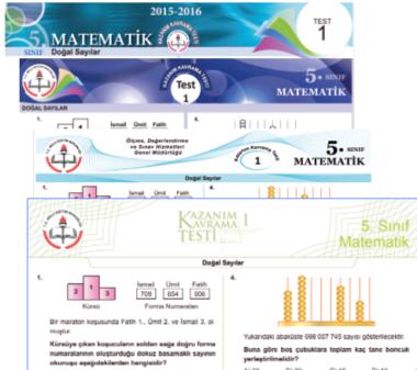 5.Sınıf Matematik MEB Kazanım Testleri