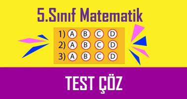 5.Sınıf Matematik Testi Çöz