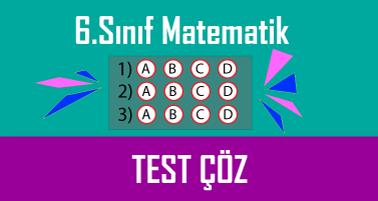 6.Sınıf Matematik Testi Çöz