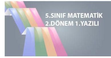 5.Sınıf Matematik 2.dönem 1.Yazılı