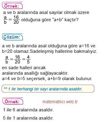 8.Sınıf Matematik Aralarında Asal Kavramı2