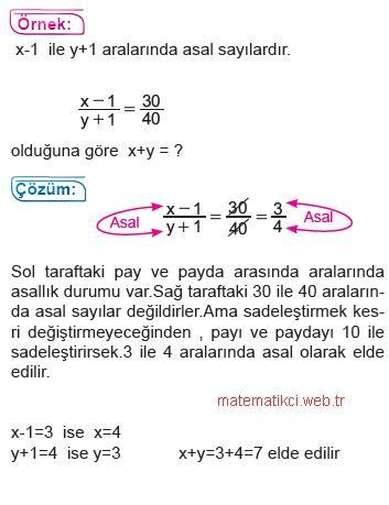 8.Sınıf Matematik Aralarında Asal Kavramı3