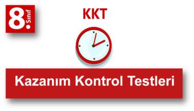8.Sınıf Kazanım Kontrol Testleri