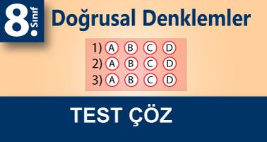 8.Sınıf 1.Dereceden 1 Bilinmeyenli Rasyonel Denklemler Testi Çöz