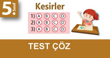 5.Sınıf Genişletme-Sadeleştirme-Denk Kesir Kavramı Testi Çöz