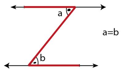 7.Sınıf İki Paralel Doğruyla Bir Kesenin Oluşturduğu Açılar Konu Anlatımı Z kuralı